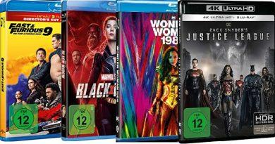 TOP 10 Blu-ray Charts (2021 KW 38)